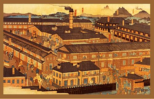 富岡製糸場の絵画