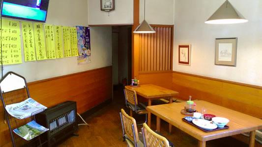 カドヤ食堂内装