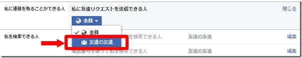 Facebookのプライバシー設定の画像