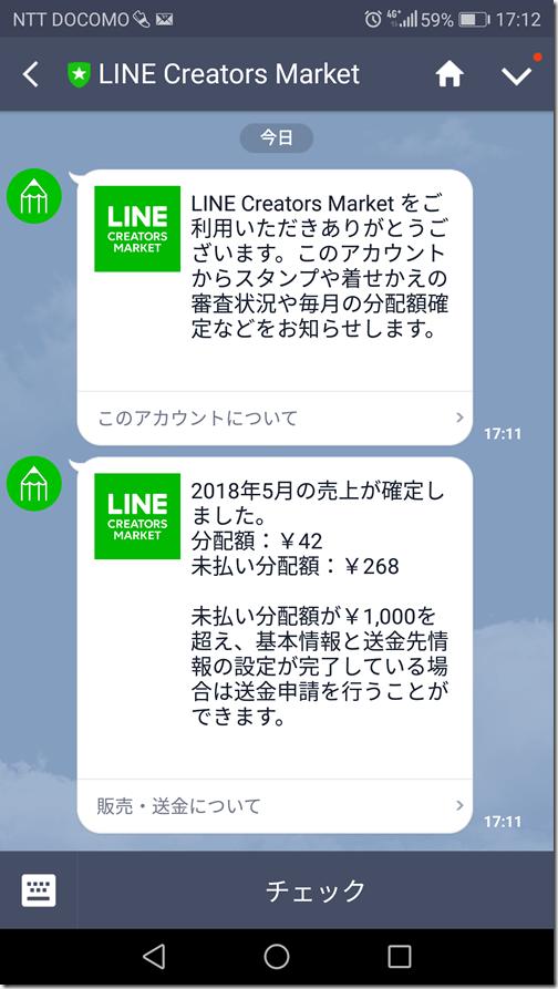 LINEスタンプ売り上げ通知